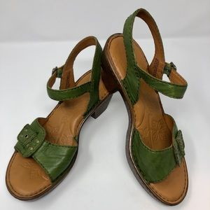 SIZE 11 Born Garden Green Platform Sandals